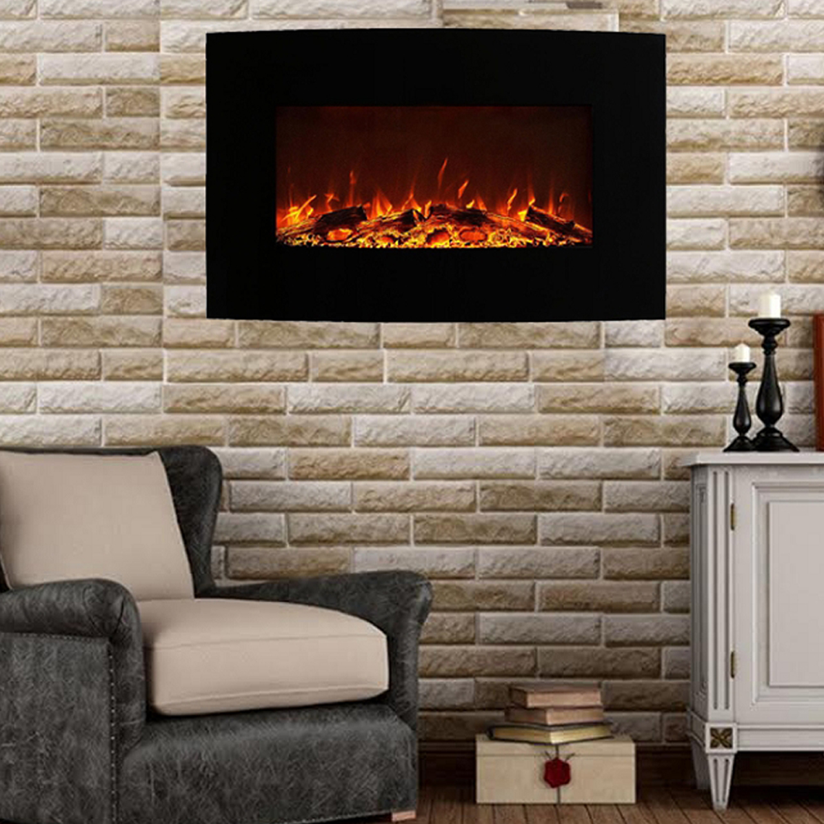 Madison 35 Inch Ventless Heater Electric Wall Mounted