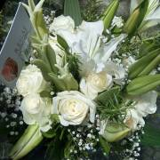 Bridal Bouquet 119- White Calligraphy by Regal