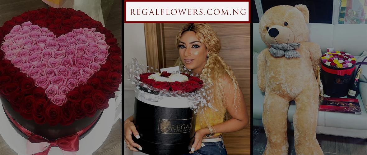Regal Flowers Nigeria online fresh flowers delivery across Lagos VIP 40% dark