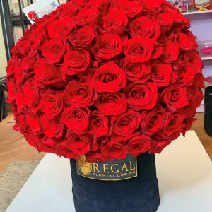 Admiral lush roses in a box