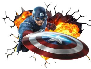 wall sticker capitan america