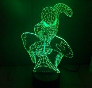 lampada 3d marvel