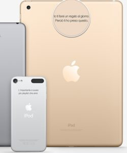 gadget personalizzati apple incisione