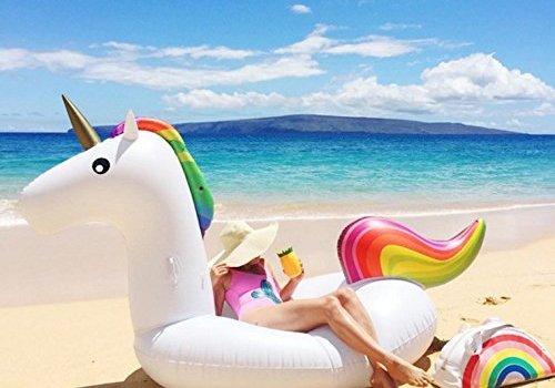 gonfiabile per il mare a forma di unicorno