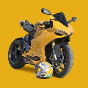 Moto gialla regali motociclisti