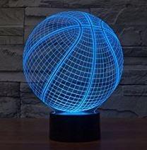 lampada palla da basket 3d