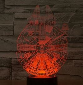 lampada 3d star wars navicella millenium falcon