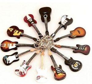 portachiavi a forma di chitarra