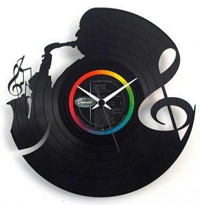 orologio da parete in vinile a tema musica