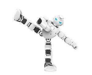 robot giocattolo di forma umana che si muove