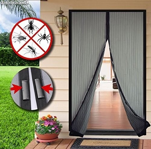 cortina mosquitera para puerta magic mesh