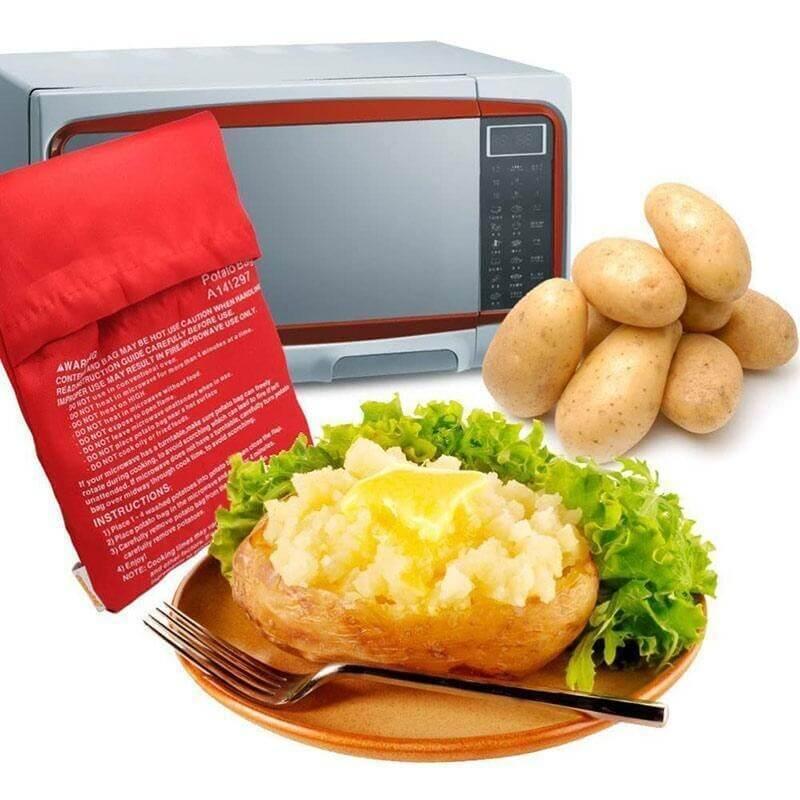 Bolsa para cocinar patatas en microondas lavable