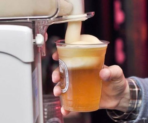 maquina creadora de espuma congelada de cerveza