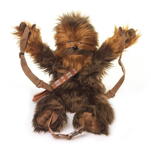 Mochila Chewbacca Star Wars abriendo los brazos