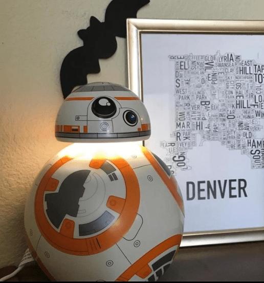 Lampara BB8 de Star Wars