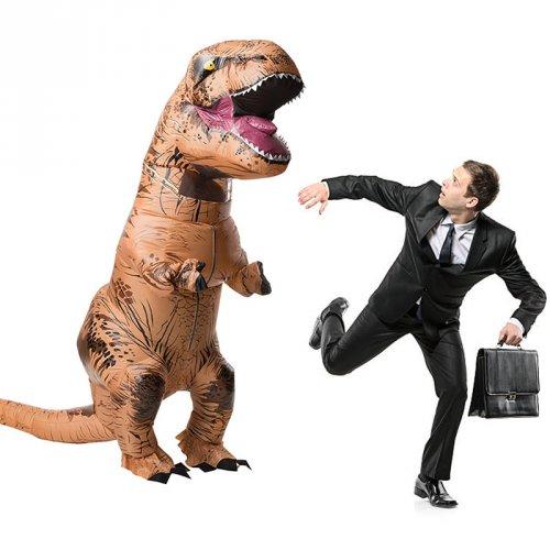 disfraz dinosaurio t rex inflable