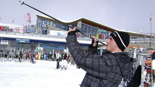 bastones de ski para esconder alcohol