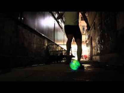 nightball matrix, balon con luces led para jugar de noche