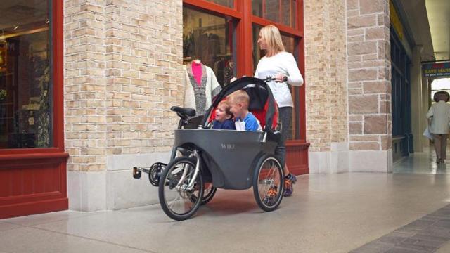 WIKE Salamander Cycle Stroller - Red/Grey