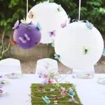 Decoración vintage para fiestas y bodas con mariposas