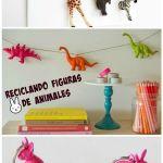 Manualidades de reciclaje con figuras de animales