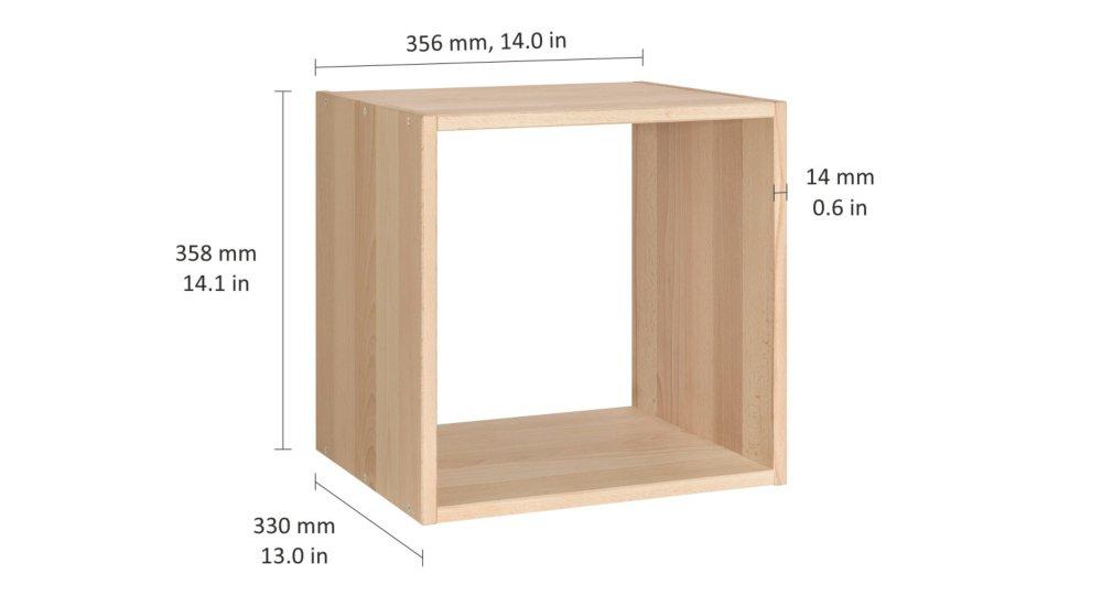 chest etagere cube 36x33x36 cm hetre