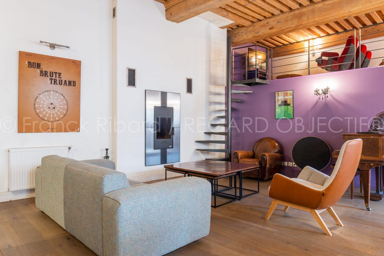 photographie de franck ribard - regard objectif - photographe architecture lyon - appartement canut lyon