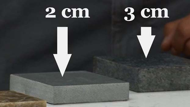 granite thickness variation as per need