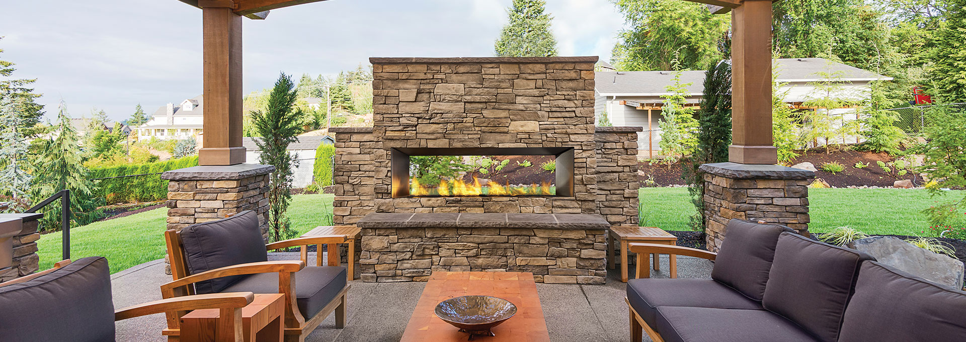 modern outdoor gas fireplaces