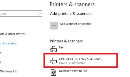 Printer Driver Is Unavailable Issue