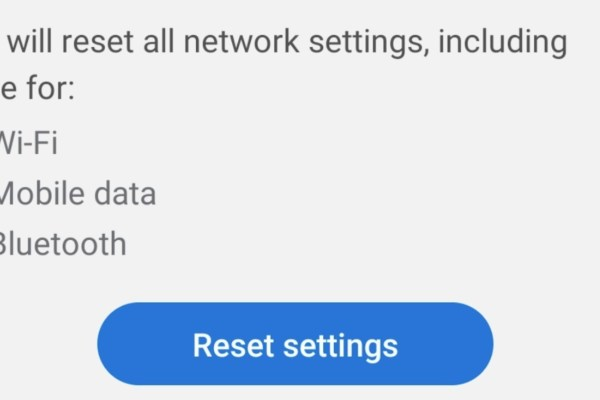 Reset Network Settings on Android