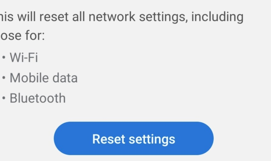Reset Network Settings on Android in Easy Steps