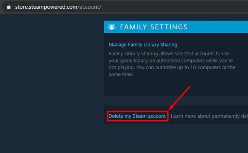 Delete Steam Account Permanently