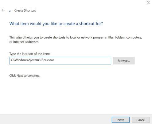 Add Windows Calculator Shortcut to Desktop