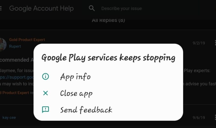 How To Fix Google Play Services Keeps Stopping
