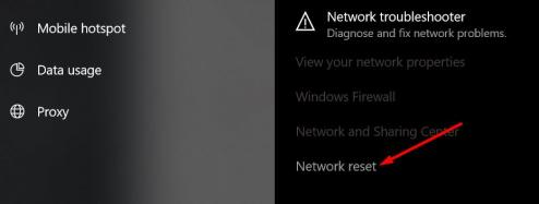 Reset Windows 10 connection