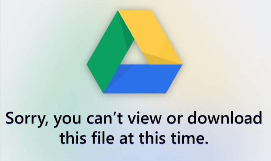 Can't Download From Google Drive, Here's How To Fix It