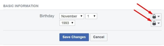 Hiding birthday reminder on web
