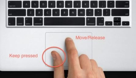 clicking and dragging macbook touchpad