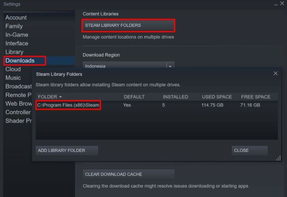 Relocate Steam installation and games files