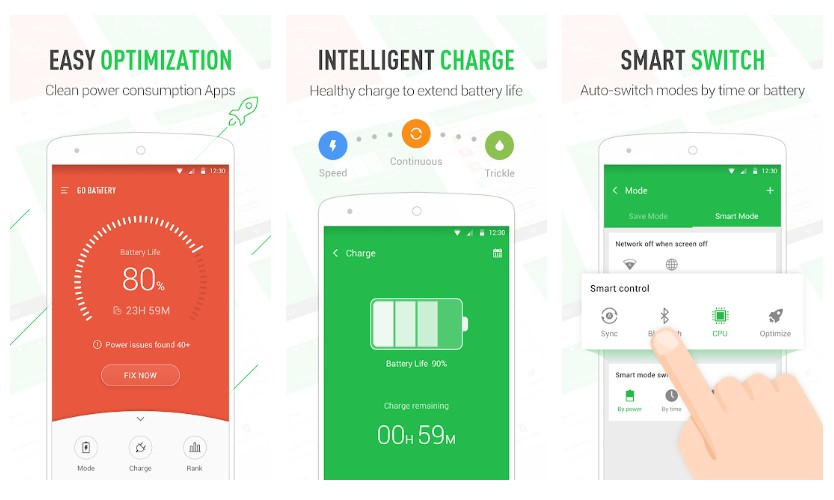 Best Battery Saver Apps for Android: GO Battery Pro