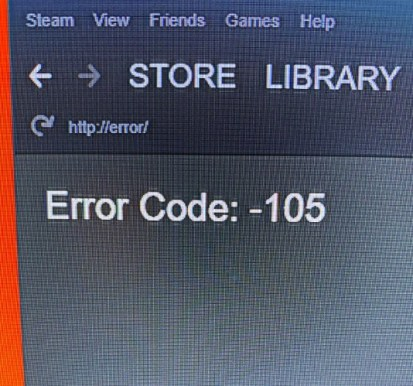 Knowing the Error Code -105
