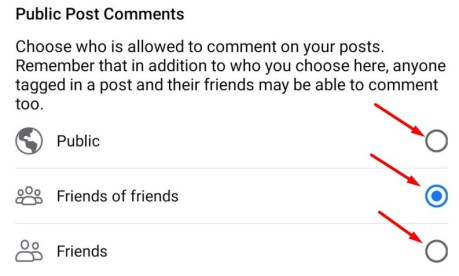 disable comments on the Android Facebook application