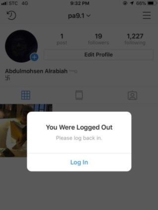 Log Out and Log In Again Instagram