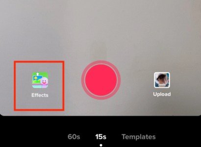 Navigate to Effect option and tap on it