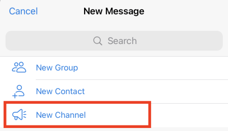 Select New Channel