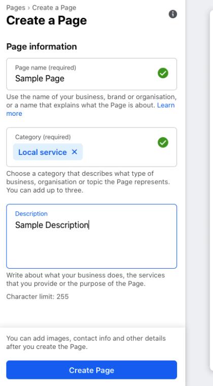 Click Create Page