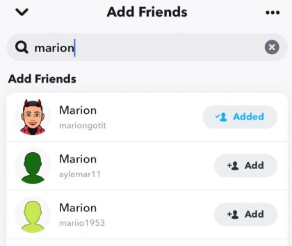 Once you find them, tap + Add to connect on Snapchat