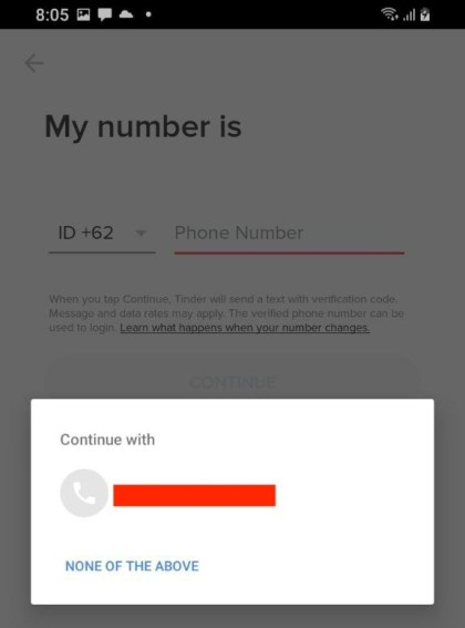 Enter your phone number and verify.