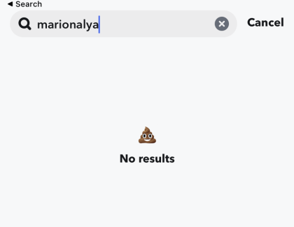 If the page shows no results, then you might be blocked